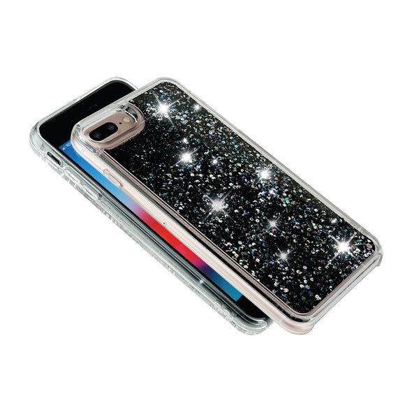 BLACK LAZER DOT - Glitter Waterfall iPhone Case Beautiful & Protective Premium phone cases for Apple iPhone, Samsung Galaxy and more.