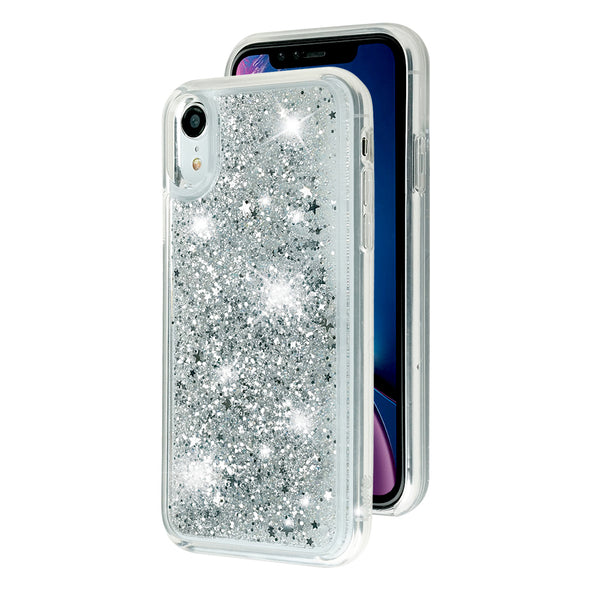 GLOSSY SILVER - Glitter Waterfall iPhone Case Beautiful & Protective Premium phone cases for Apple iPhone, Samsung Galaxy and more.