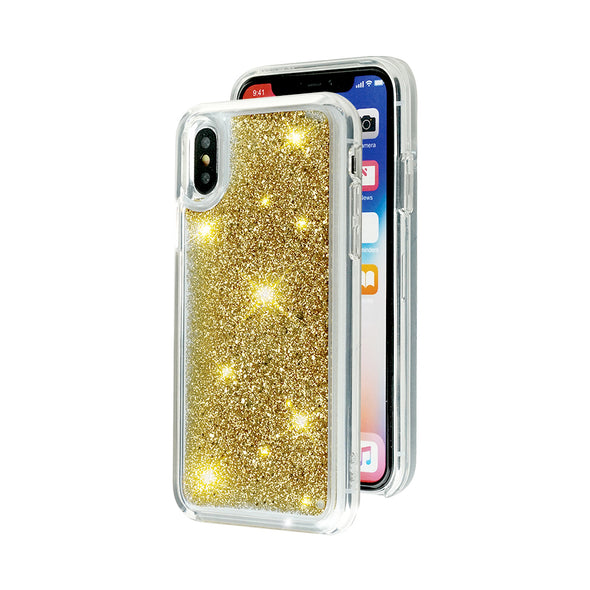 GOLDEN HEART - Glitter Waterfall iPhone Case Beautiful & Protective Premium phone cases for Apple iPhone, Samsung Galaxy and more.