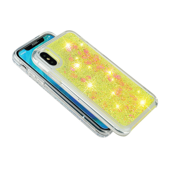 FLUO BOMB - Glitter waterfall iPhone case Beautiful & Protective Premium phone cases for Apple iPhone, Samsung Galaxy and more.