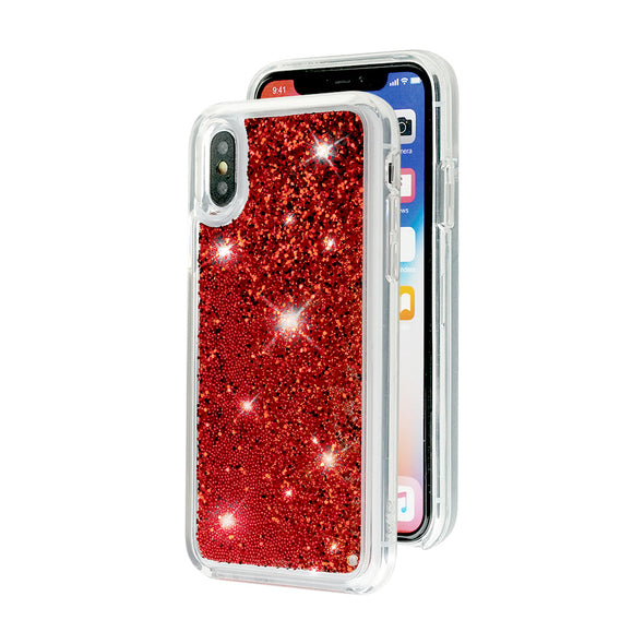 REALLY RED - Glitter Waterfall iPhone Case Beautiful & Protective Premium phone cases for Apple iPhone, Samsung Galaxy and more.