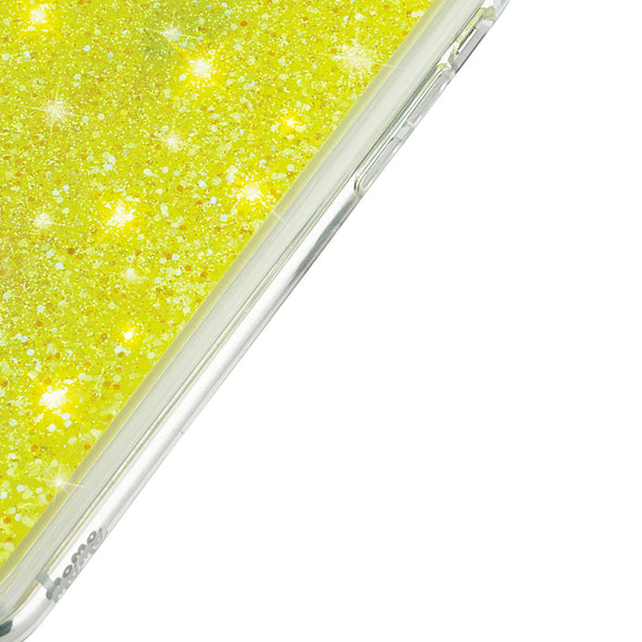 NEO YELLOW - Glitter Waterfall iPhone Case Beautiful & Protective Premium phone cases for Apple iPhone, Samsung Galaxy and more.