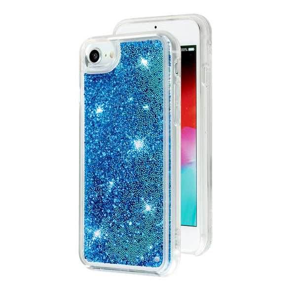 BLUE - Glitter Waterfall iPhone Case Beautiful & Protective Premium phone cases for Apple iPhone, Samsung Galaxy and more.