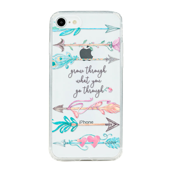 Grow through what you go through Beautiful & Protective Premium phone cases for Apple iPhone, Samsung Galaxy and more.