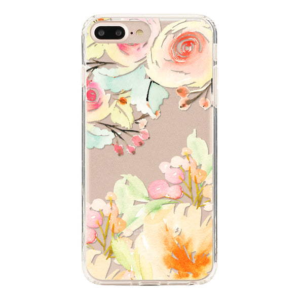 Handmade pastel summer floral Beautiful & Protective Premium phone cases for Apple iPhone, Samsung Galaxy and more.