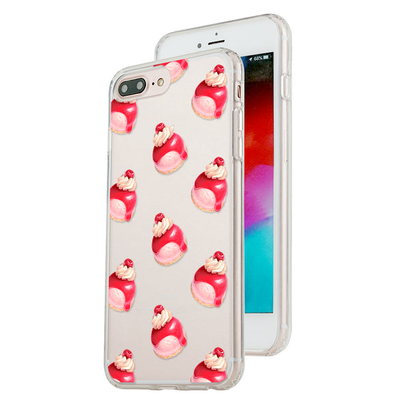 Cherry topping marshmallow pattern Beautiful & Protective Premium phone cases for Apple iPhone, Samsung Galaxy and more.