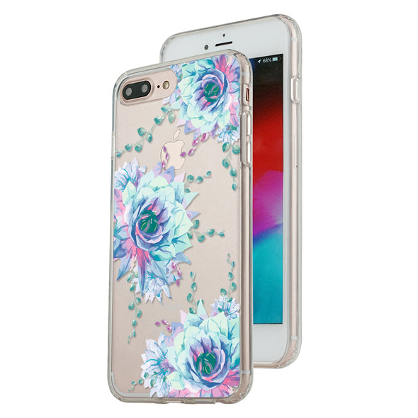 Elegant blue floral Beautiful & Protective Premium phone cases for Apple iPhone, Samsung Galaxy and more.
