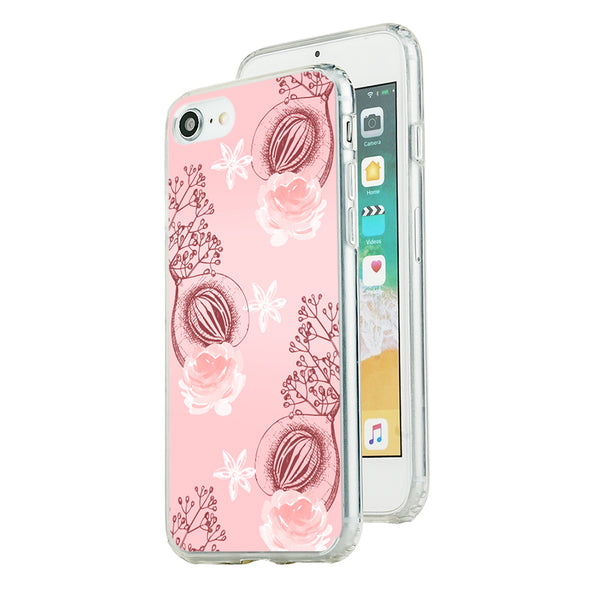 Pink Floral pattern 2 Beautiful & Protective Premium phone cases for Apple iPhone, Samsung Galaxy and more.