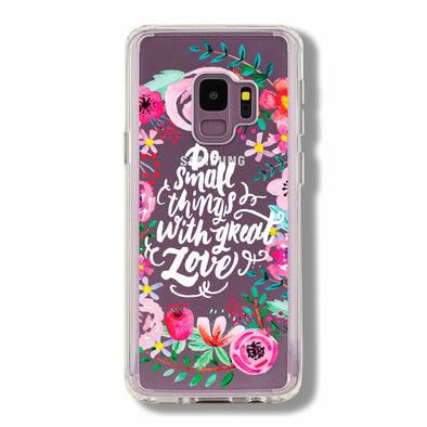 Cute watercolor floral with phrase Beautiful & Protective Premium phone cases for Apple iPhone, Samsung Galaxy and more.