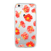 Red floral Beautiful & Protective Premium phone cases for Apple iPhone, Samsung Galaxy and more.
