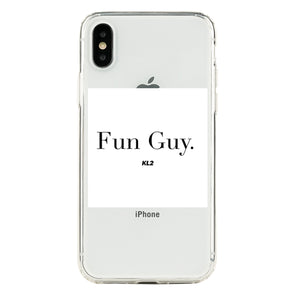 FUN GUY KL2 WHITE WITH BLACK LETTER Beautiful & Protective Premium phone cases for Apple iPhone, Samsung Galaxy and more.
