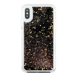 GOLDEN STARS IN DARK - Glitter Waterfall iPhone Case Beautiful & Protective Premium phone cases for Apple iPhone, Samsung Galaxy and more.