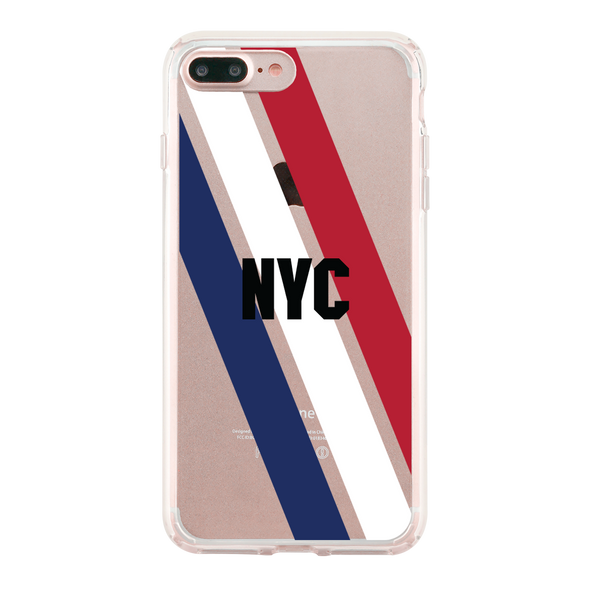 NYC Blue White Red Stripes Beautiful & Protective Premium phone cases for Apple iPhone, Samsung Galaxy and more.