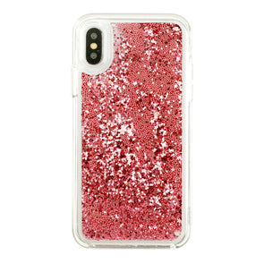 ROSE PINK - Glitter Waterfall iPhone Case Beautiful & Protective Premium phone cases for Apple iPhone, Samsung Galaxy and more.