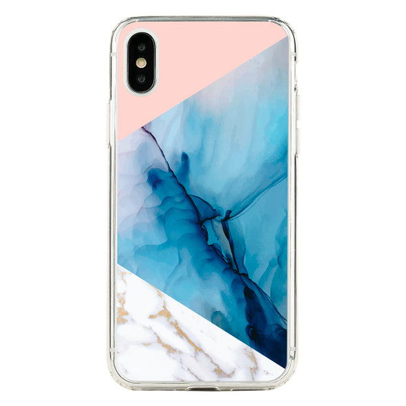 Golden marble and blue watercolor pattern Beautiful & Protective Premium phone cases for Apple iPhone, Samsung Galaxy and more.