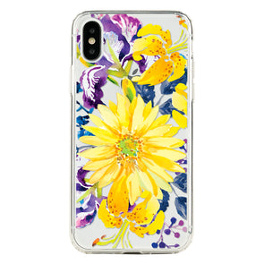 Gerbera, lily and Iris floral Beautiful & Protective Premium phone cases for Apple iPhone, Samsung Galaxy and more.