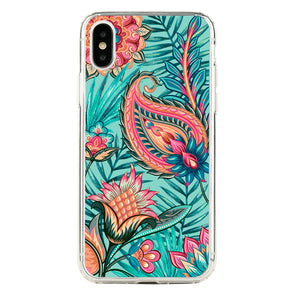 Tropical paisley flowers Beautiful & Protective Premium phone cases for Apple iPhone, Samsung Galaxy and more.