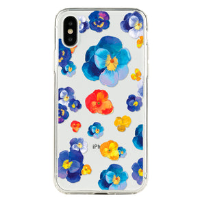 Blue, red and yellow floral Beautiful & Protective Premium phone cases for Apple iPhone, Samsung Galaxy and more.