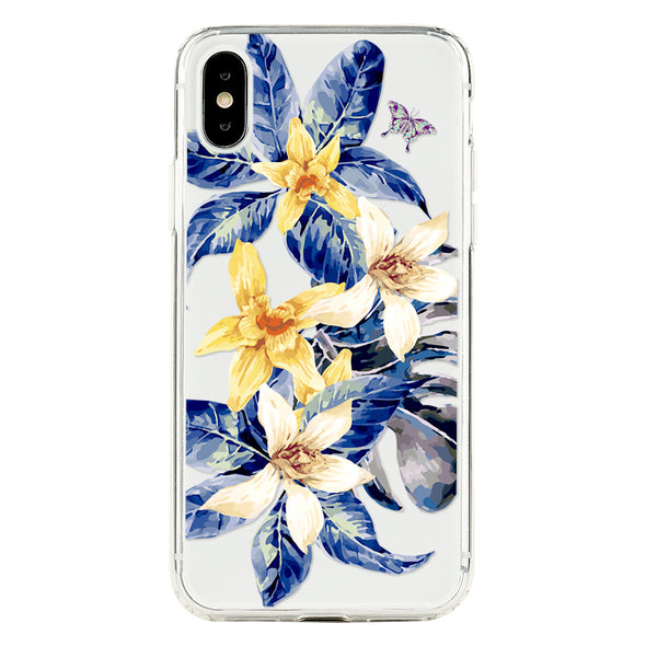 Vintage botany tropical leaves and exotic floral Beautiful & Protective Premium phone cases for Apple iPhone, Samsung Galaxy and more.