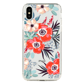 Red anemones Beautiful & Protective Premium phone cases for Apple iPhone, Samsung Galaxy and more.