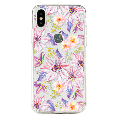 lilac clematis Beautiful & Protective Premium phone cases for Apple iPhone, Samsung Galaxy and more.