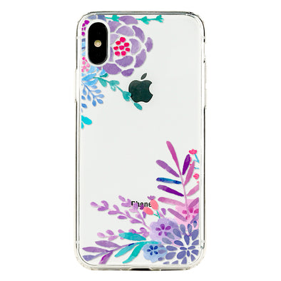 Violet floral in the garden Beautiful & Protective Premium phone cases for Apple iPhone, Samsung Galaxy and more.