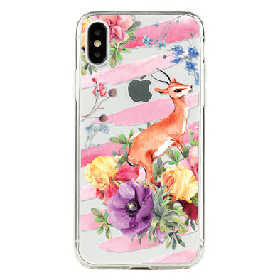 Watercolor deer and flowers Beautiful & Protective Premium phone cases for Apple iPhone, Samsung Galaxy and more.