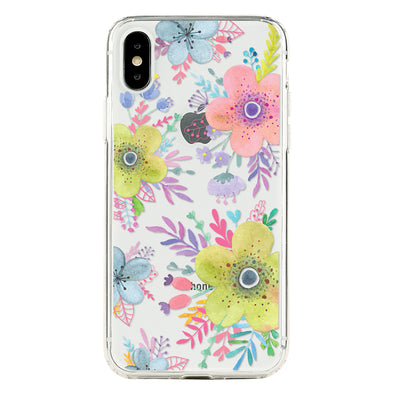 Floral colorful baby anemones Beautiful & Protective Premium phone cases for Apple iPhone, Samsung Galaxy and more.