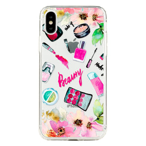 Watercolor cosmetics and flowers Beautiful & Protective Premium phone cases for Apple iPhone, Samsung Galaxy and more.