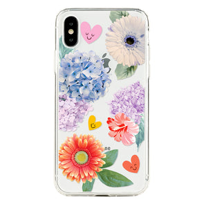 Flower and hearts Beautiful & Protective Premium phone cases for Apple iPhone, Samsung Galaxy and more.