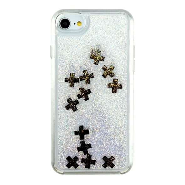 X MARKS THE SPOT - Glitter Waterfall iPhone Case for Apple Beautiful & Protective Premium phone cases for Apple iPhone, Samsung Galaxy and more.