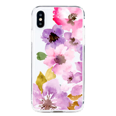 Watercolor summer florals Beautiful & Protective Premium phone cases for Apple iPhone, Samsung Galaxy and more.