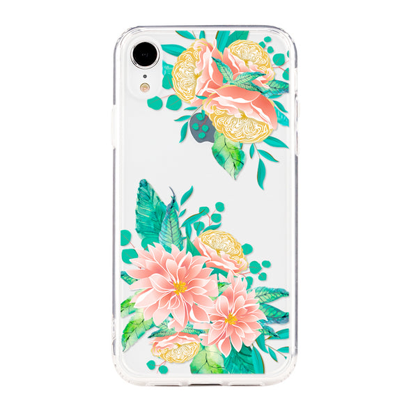 Floral creamy wild peonies Beautiful & Protective Premium phone cases for Apple iPhone, Samsung Galaxy and more.