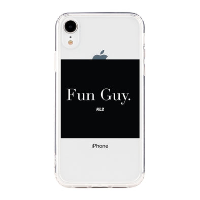 FUN GUY KL2 BLACK WITH WHITE LETTERS Beautiful & Protective Premium phone cases for Apple iPhone, Samsung Galaxy and more.