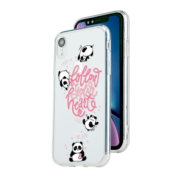 Follow your heart with cute pandas Beautiful & Protective Premium phone cases for Apple iPhone, Samsung Galaxy and more.