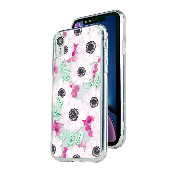 Anemone with red berries and leaves Beautiful & Protective Premium phone cases for Apple iPhone, Samsung Galaxy and more.