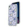 Summer violets floral with deep blue geometric pattern Beautiful & Protective Premium phone cases for Apple iPhone, Samsung Galaxy and more.