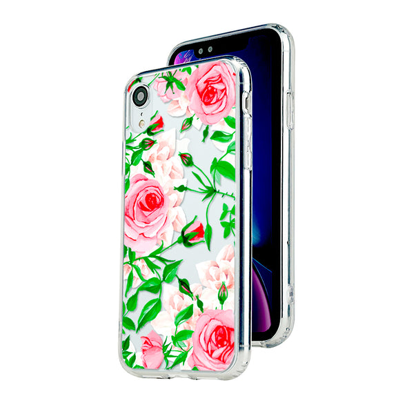 Gorgeous pink roses floral Beautiful & Protective Premium phone cases for Apple iPhone, Samsung Galaxy and more.
