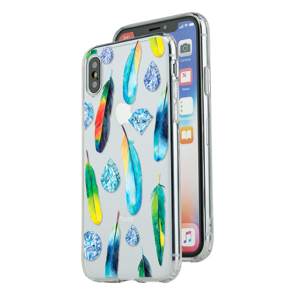 Watercolor feathers and diamonds dream Beautiful & Protective Premium phone cases for Apple iPhone, Samsung Galaxy and more.