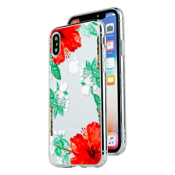 Bright hibiscus and jasmine floral Beautiful & Protective Premium phone cases for Apple iPhone, Samsung Galaxy and more.