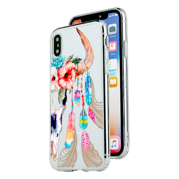 Skull and fantasy feathers Beautiful & Protective Premium phone cases for Apple iPhone, Samsung Galaxy and more.
