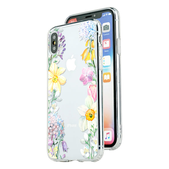 Watercolor spring flower garden Beautiful & Protective Premium phone cases for Apple iPhone, Samsung Galaxy and more.