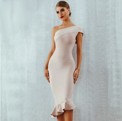 2019 New Women Bandage Dress