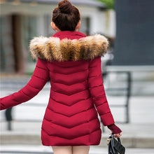 Fashion Winter Women Jacket Big Fur Belt Hooded