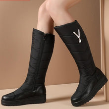 2021 Russia winter snow boots women  knee high