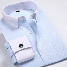 Men's Dress Shirts Loose French Cuff Regular fit