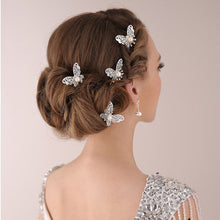 Bride Butterfly Hair Pin Wedding Dress Costume Headdress Shaped Hairpin Hair Accessories