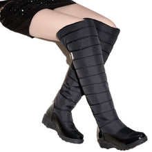 Russian winter  women warm knee high boots