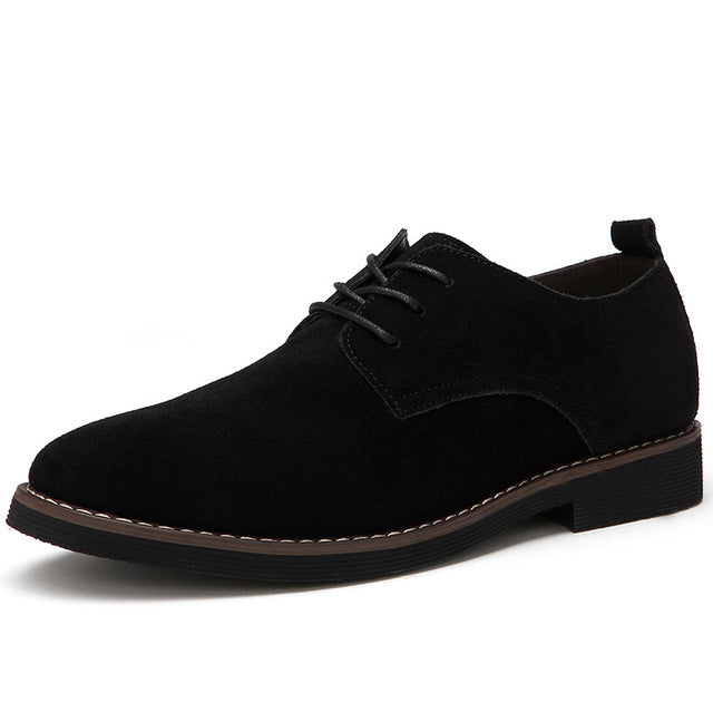 2018  Men Oxfords Faux Suede Leather Men  Shoes