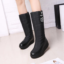 snow boots with wedges heels slip on women winter